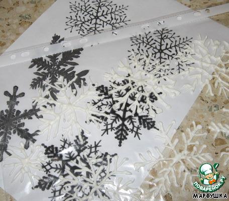 Снежинки на торт как сделать - Gallery-Oskol.ru